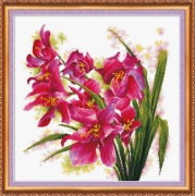Набор для вышивки крестом Лиловые орхидеи