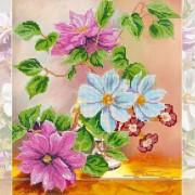 Рисунок на ткани для вышивки бисером Цветочная симфония