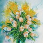 Рисунок на ткани для вышивки бисером Весеннее настроение