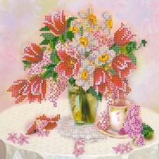 Рисунок на ткани для вышивки бисером Чаепитие Абрис Арт АС-453