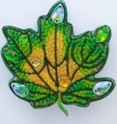 Набор для изготовления броши из бисера Осенний лист 1