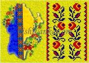 Схема для вышивки бисером на атласе Обложка для паспорта