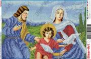 Схема вышивки бисером на габардине Святе сімейство