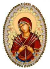 Набор для изготовления подвески Богородица Семистрельная Zoosapiens РВ3212