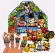 Набор для изготовления игрушки из фетра для вышивки бисером Пальчиковый театр. 6 сказок