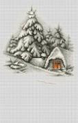 Набор для вышивки крестом Зимний пейзаж