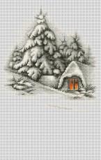 Набор для вышивки крестом Зимний пейзаж Luca-S В2279