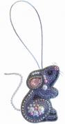 Набор для изготовления броши из бисера Мышка 1