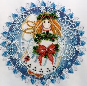 Набор для вышивки бисером на холсте Рождественский ангел, , 106.00грн., АМ-184, Абрис Арт, Новый год