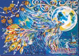 Набор для вышивки бисером на холсте Синяя птица счастья, , 632.00грн., AB-632, Абрис Арт, Животные
