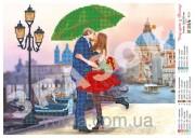 Схема вышивки бисером на атласе Поцелуй в Венеции