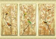 Схема для вышивки бисером на атласе Райский сад