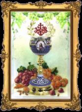 Набор для вышивки бисером Пасхальная чаша 1 Краса и творчiсть 10212