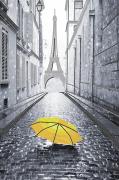 Схема для вышивки бисером на атласе Парижский дождик (жёлтый)