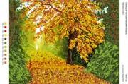 Рисунок на габардине для вышивки бисером Багряна осінь