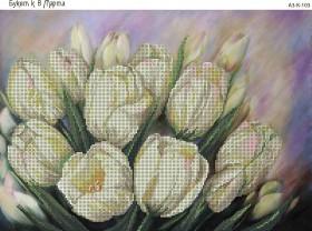 Схема для вышивки бисером на габардине Букет к 8 Марта, , 70.00грн., А3-К-103, Acorns, Цветы