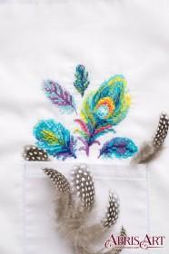 Набор для вышивки крестом на одежде Разноцветные