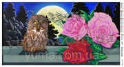 Схема вышивки бисером на атласе Птица ночи