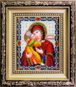 Набор для вышивки ювелирным бисером Владимирская икона Божией Матери