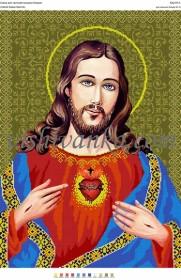Схема для вышивки бисером на атласе Святе Серце Христа. Артикул  А2-057  атлас 3a4ec090d4a63