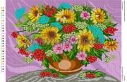 Рисунок на габардине для вышивки бисером Літній дарунок