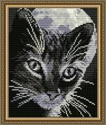 Набор для выкладки алмазной мозаикой Кот под луной