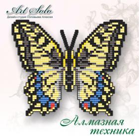 Набор-магнит для выкладки алмазной мозаикой Махаон (Papilio machaon) Art Solo БАТ03 - 110.00грн.