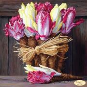 Схема вышивки бисером на атласе Букет капусты