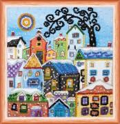 Набор для вышивки бисером Яркие домики