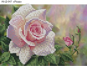 Схема для вышивки бисером на габардине Роза Acorns А6-Д-047 - 23.00грн.