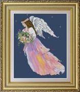 Набор для вышивки нитками Ангел цветов