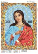 Схема вышивки бисером на атласе Св. Марина