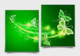 Схема для вышивки бисером на атласе Ажурные бабочки (зеленый) Диптих А-строчка АРЗ-011 - 182.00грн.