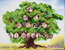 Набор для вышивки бисером на холсте Родовое древо Абрис Арт АВ-697