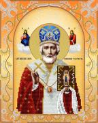 Схема для вышивки бисером на атласе Святой Николай Чудотворец (золото)