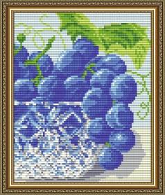 Набор для выкладки алмазной техникой В хрустале. Виноград Диптих 2, , 280.00грн., АТ5546, Art Solo, Картины из нескольких частей