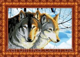 Набор для вышивки бисером Волки