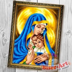 Схема вышивки бисером на габардине Мадонна з немовлям  Biser-Art 30х40-B600 - 66.00грн.