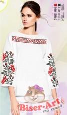Заготовка вышиванки Женской сорочки на белом габардине Biser-Art SZ100