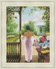 Набор для вышивания крестом Девушка и цветы OLANTA VN-175