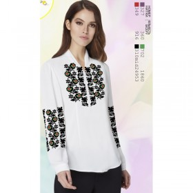 Заготовка женской сорочки на белом габардине Biser-Art SZ73 - 320.00грн.