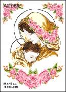 Схема вышивки бисером на габардине Огонь вечной любви