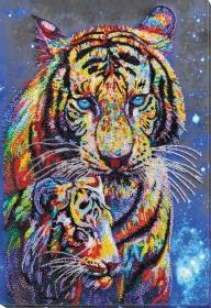 Набор для вышивки бисером Тигры цветные