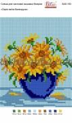 Рисунок на габардине для вышивки бисером Серія квітів: Календула