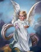 Набор для выкладки алмазной мозаикой Ангел с цветами
