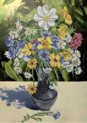 Схема для вышивки бисером на габардине Полевые цветы