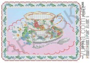 Схема вышивки бисером на атласе Чай