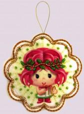 Набор для изготовления игрушки из фетра для вышивки бисером Дева Баттерфляй (Butterfly) F126