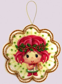 Набор для изготовления игрушки из фетра для вышивки бисером Дева