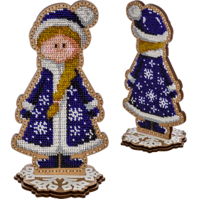 Набор для вышивки  бисером по дереву Снегурочка